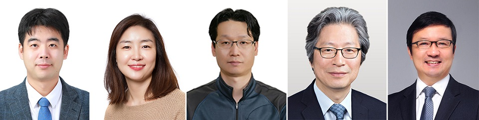 From left, Drs. Joo Young-seok at the Korea Advanced Institute of Science and Technology, Lee Joo-hyeon at the University of Cambridge, Choi Byeong-sun at National Institute of Health, Kou Gou-young at Institute for Basic Science, and Kim Young-tae at Seoul National University.