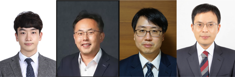 (From right) Professor Yoon Dae-sung, Lee Gyu-do, Lee Jeong-hoon and Lee-Dong-tak from Korea University and other professors have jointly developed a platform to screen protein corona for curing Alzheimer's Disease. (NRK)